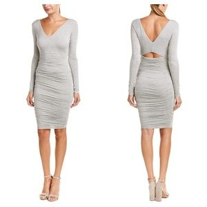 [Bailey 44] Long Sleeve Ruched Cutout Midi Dress